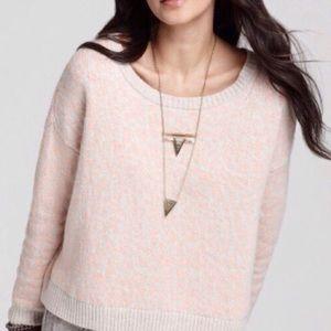 NWOT free people pink & cream Leopard sweater
